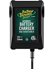 Carregador e mantenedor júnior de bateria Tender da bateria: Carregador e mantenedor de bateria Powersports automático de 12 V para motocicleta, ATVs e mais – Carregadores flutuantes de bateria inteligentes de 12 volts, 750 mA – 021-0123