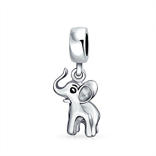 Bling Jewelry 925 Sterling Silver Good Luck Elephant Dangle Charm Bead