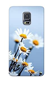 Awesome CPnuNXp4653CdXWz Trolleyscribe Defender Tpu Hard Case Cover For Galaxy S5- Daisies