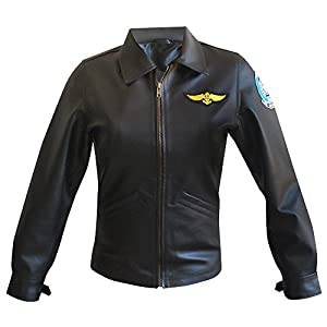 MPASSIONS Top Gun Kelly Mcgillis (Charlie) Leather Jacket