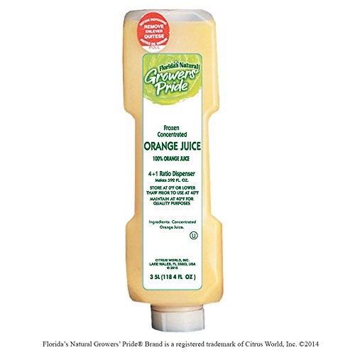 Florida's Natural Growers Pride Frozen Orange Juice from Concentrate, 3.5 liter, (4 per case)