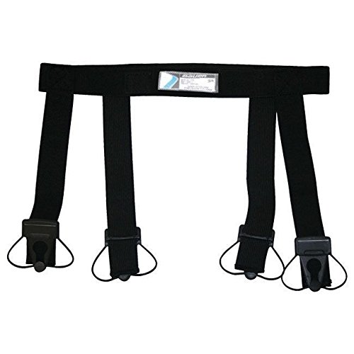 Bauer Senior Garter Belt, Black - Hockey Belt