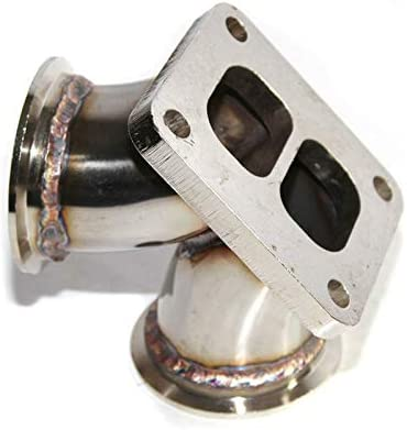 Turbo Charger Flange Conversion Adapter T4 4-Bolt to Twin 2.5 V ...