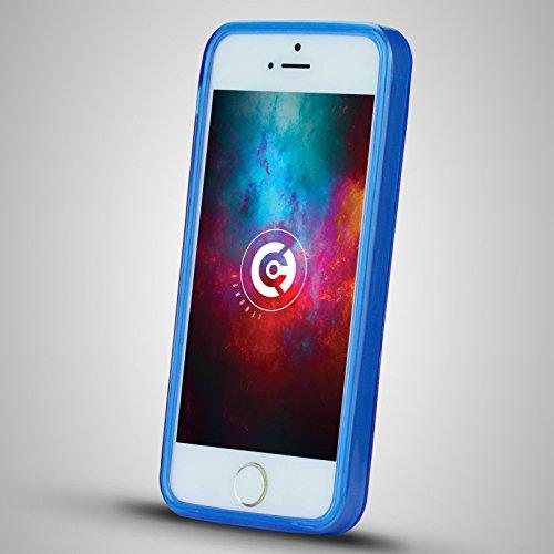 Apple iPhone SE / 5S & 5 X-Line Schutzhülle Silikon Case Tasche Cover in Blau von cTRON21