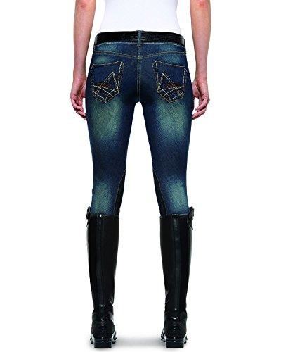 Ariat Riding Pants (Ariat Women's Denim Pant Low Rise Knee Patch Pant, Indigo, 28 Long)