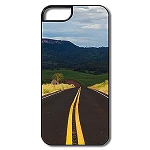 IPhone 5S Cases, UruanaItapuranga Highway Covers For IPhone 5 5S - White/black Hard Plastic