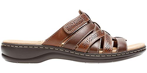 CLARKS Women's Leisa Field Sandal Brown Multi Leather Size 10 C/D US