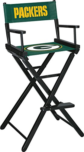 Imperial Officially Licensed NFL Merchandise: Directors Chair (Tall, Bar Height), Green Bay Packers Green Bay Packers Custom Room