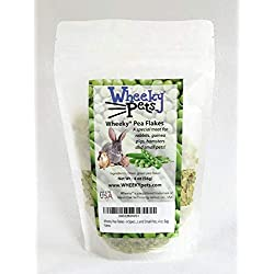 Wheeky Pea Flakes - A Special Treat for Rabbits, Guinea Pigs, Hamsters and Small Pets, 4 oz. Bag