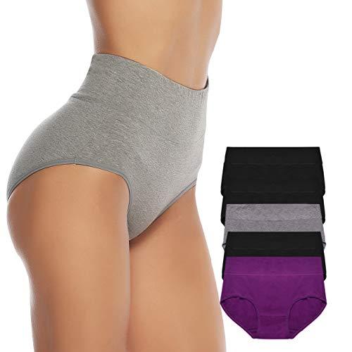 OUENZ Women's Cotton Underwear,5...