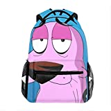 Courage The Cowardly Dog Casual Backpack Bag, Fashion Lightweight Backpacks for Teen Young Girls