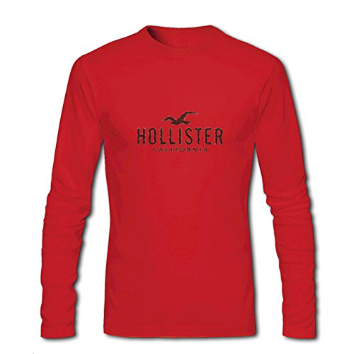 Hollister California for Men Printed Long Sleeve Cotton T-shirt