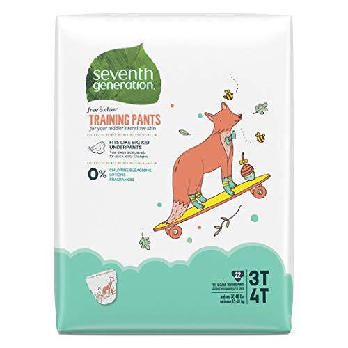 Seventh Generation Baby & Toddler Training Pants, Large Size 3T-4T, 22 Count (Packaging May Vary)
