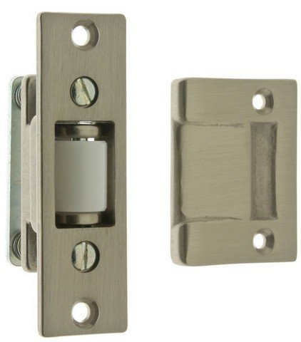 Idh by St. Simons 12017-015 Solid Brass Heavy Duty Silent Roller Latch with Adjustable Square Strike44; Satin Nickel