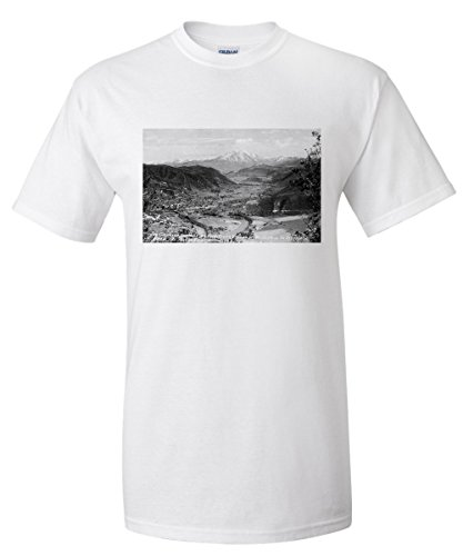 Glenwood Springs, Colorado - Traver Ranch View; Roaring Fork River Valley Photograph (White T-Shirt - Valley Glenwood