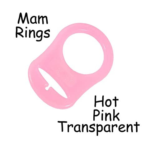 5 MAM Ring Button Style Pacifier Adapter (pink) - by i Craft for Less