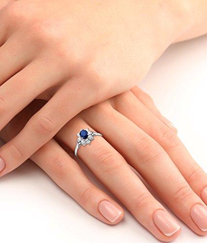 Miore - MA950ZR - Bague Femme Or Blanc 375/1000 (9 carats) 1.25 gr - Saphir