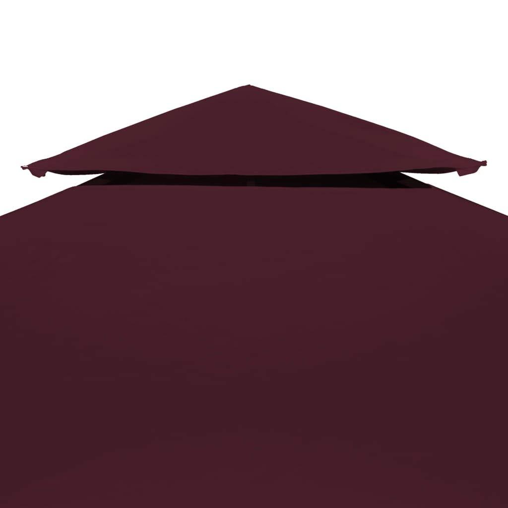 Copertura Superiore per Gazebo a 2 Strati 310g//m/² 4x3m Bordeaux Tidyard Copertura Gazebo