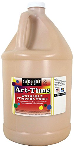 Sargent Art 17-3687 128 Ounce Peach Art-Time Washable Tempera Paint, Gallon, 1 Gallon