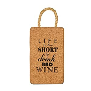 Wine All The Time 22036 Life is Too Short Cork Trivet, 7-Inch