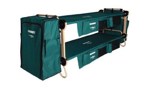 Disc-O-Bed Cam-O-Bunk Cot with 2 Organizers and 2 Cabinets, Large