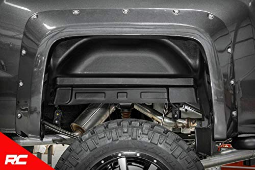 (Rough Country Rear Wheel Well Liners Compatible w/ 2014-2018 Chevy Silverado 1500 4214 Rear Wheel Well Liners)