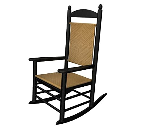 Sensational Polywood Outdoor Furniture Kennedy Rocker With Tiger Weave Mahogany Recyled Home Interior And Landscaping Ferensignezvosmurscom
