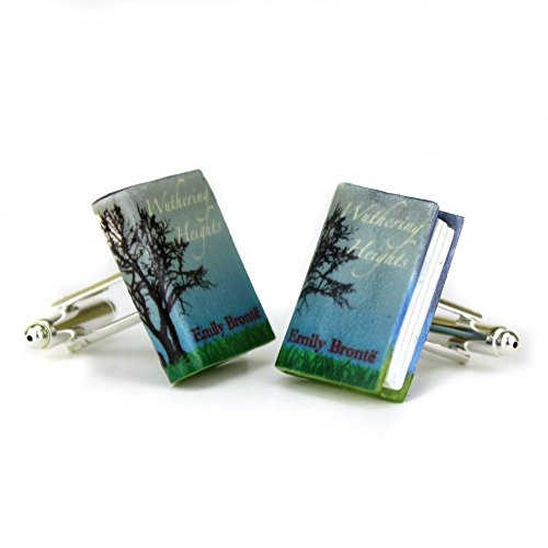 WUTHERING HEIGHTS Emily Bronte Clay Mini Book Cufflinks by Book Beads