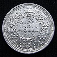 Collection House 1/4 Rupee 1944 brtish India Silver Coin