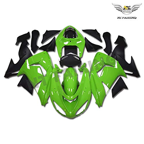 New Green Black Fairing Fit for Kawasaki Ninja 2006 2007 ZX10R ZX-10R Injection Mold ABS Plastics Aftermarket Bodywork Bodyframe 06 07