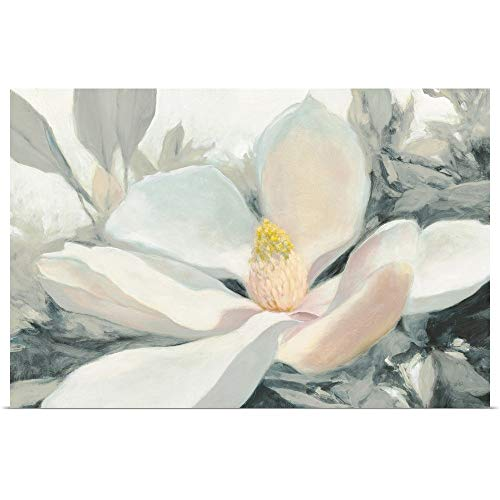 GREATBIGCANVAS Poster Print Entitled Majestic Magnolia Green Gray Crop by Julia Purinton ()