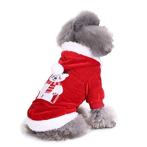 L KARIDUN Pet Dog Clothing Winter Dog Supplies Wacky Creative Dog Vest Sweater Pajamas Cap Coat (Bear Suit L)