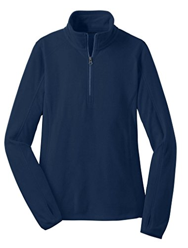Joe's USA - Ladies Microfleece 1/2-Zip Pullover Sweatshirt-True Navy-XL ()