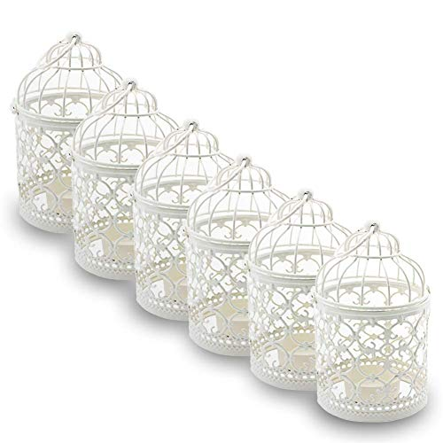 (Ciaoed Mini Metal Tealight Hanging Birdcage Lantern, Vintage Decorative Centerpieces of Wedding & Party Pack of)