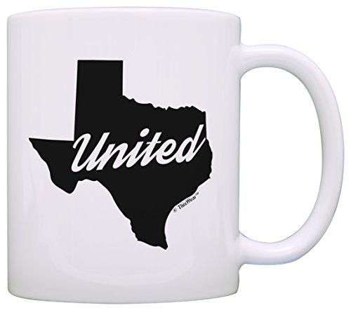 Texas Gifts United Texas Dallas San Antonio Houston Texas Gift Coffee Mug Tea Cup White