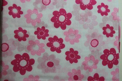 Sumersault Flower - Sumersault Girls Floral Crib Sheet