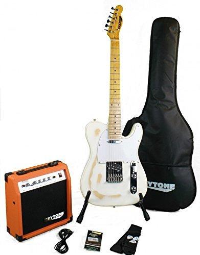 KEYTONE TL de Style Guitarra eléctrica Set Vintage con amplificador & accesorio