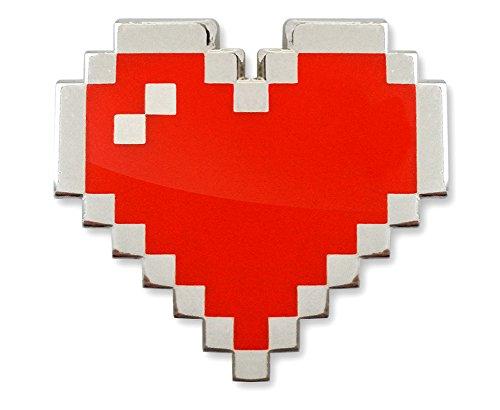 (MemePinz 8-Bit Pixel Heart Enamel Lapel Pin)