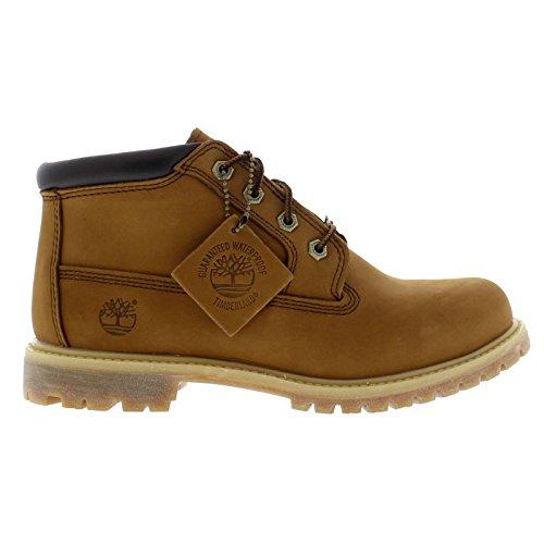 Timberland Womens Nellie Waterproof Chukka Rust Nubuck Boots 9 US