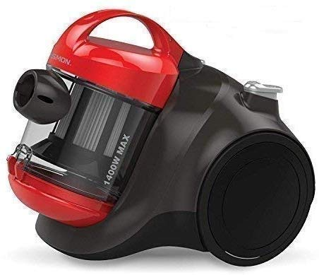 Osmon OS 1400BL by American Micronic,1400 Watts Bagless Cyclonic Vacuum Cleaner with HEPA Filter, 25Kpa suction (Red…