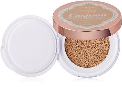 - L'Oréal Paris True Match Lumi Cushion Foundation, W2 Light Ivory, 0.51 oz.