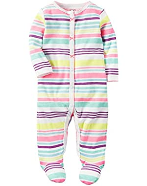 Baby Girls' Interlock Stripe Footie