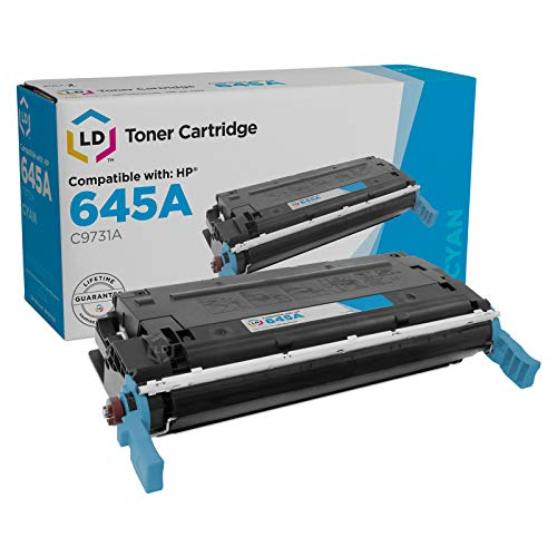 LD Remanufactured Toner Cartridge Replacement for HP 645A C9731A (Cyan)