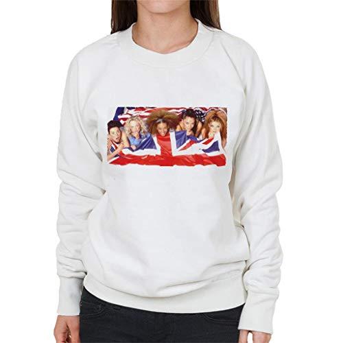Girls Girls Spice Sweatshirt Jack Union Union White Women's Retro pOwZxTT