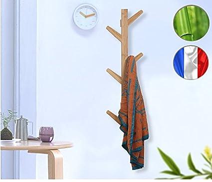 Puerta abrigo pared perchero vertical design en bambú Luxe ...