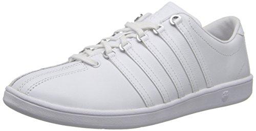 K-Swiss Women's Classic P Sneaker,White/White/Silver,11 M US