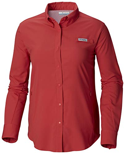 Columbia Women's PFG Tamiami II Long Sleeve Shirt , Sunset Red, X-Large ()