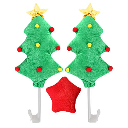 AutoRocking Christmas Car Decorations Christmas Tree Car Costume Kit Vehicle Windows Ornaments Auto Exterior Accessories Christmas Trees for Automobile Gifts