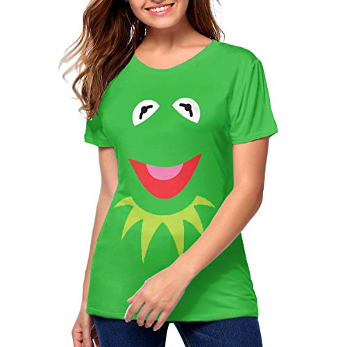 (Xzksqrsweq Green Puppet Frog Face Halloween Costume Beautiful Tee)