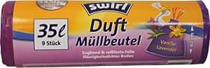 Swirl aroma - bolsas de basura vainilla lavanda/anti-olor/bolsa de basura/bolsa de basura, bolsas de basura Swirl aroma 35 litros